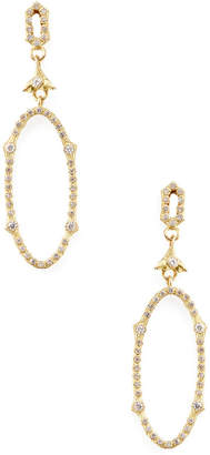 Armenta Sueno 18K & 0.53 Ct. Tw. Diamond Open Oval Drop Earrings