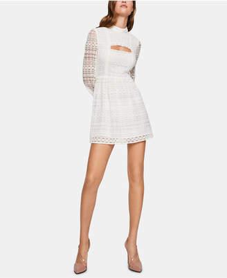 BCBGeneration Lace Cutout Fit & Flare Dress