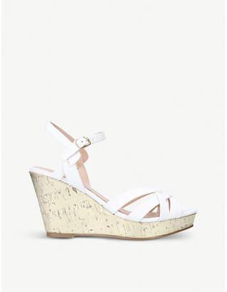 Miss KG Parisian faux-leather wedge sandals