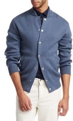 Brunello Cucinelli Varsity Wool-Blend Caridgan
