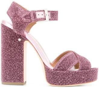Laurence Dacade glitter-effect platform sandals
