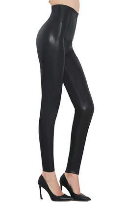 e6a93ad8c095 Pelisy Womens Sexy Faux Leather Pants Skinny High Waisted Leggings Small