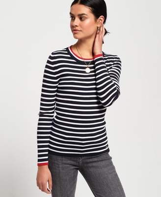 Superdry Kasey Tipped Ribbed Crew Knit