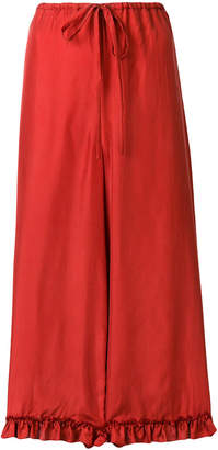 Isa Arfen cropped flared trousers