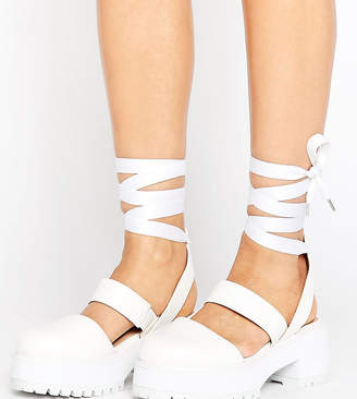 Asos (エイソス) - ASOS OBLONG Wide Fit Chunky Heels
