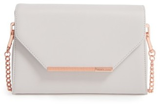 Ted Baker London Faux Leather Crossbody Bag - Grey $139 thestylecure.com