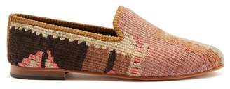 Artemis Design Shoes - Kilim Geometric Loafers - Mens - Multi