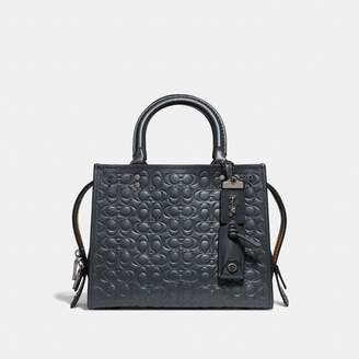 Coach Rogue 25 In Signature Leather With Floral Bow Print