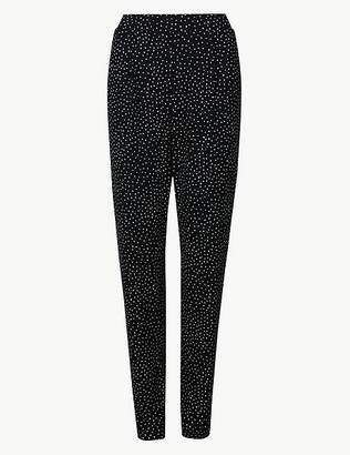 Marks and Spencer Polka Dot Jersey Peg Trousers