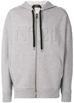 No.21 three-dimensional logo hoodie