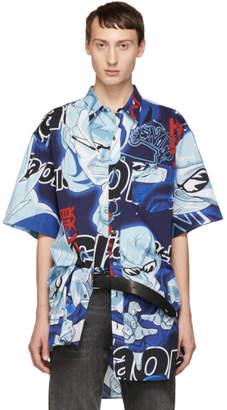 Vetements Blue Anime Bowling Shirt