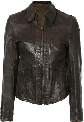 Fake Alpha Vintage 1940s Good Design leather jacket