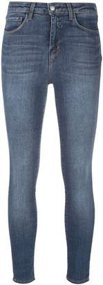 L'Agence skinny cropped stonewashed jeans