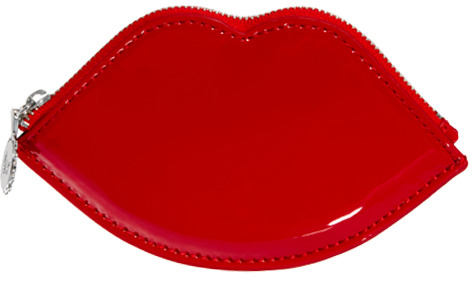 Lulu Guinness Lip Patent Leather Coin Purse