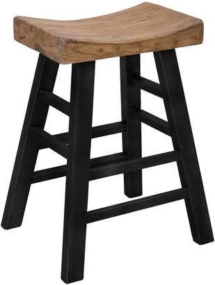 CLASSIC HOME Morella Reclaimed Pine Square Bar Stool