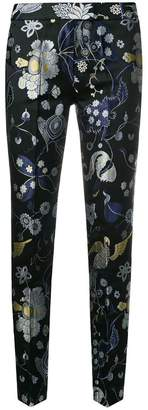 Christian Pellizzari embroidered slim fit trousers