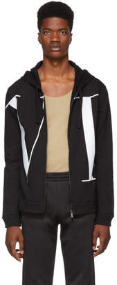 Valentino Black VTLN Zip-Up Hoodie