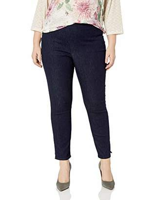 NYDJ Women's Plus Size Pull ON Skinny Ankle Jean with Side Slits