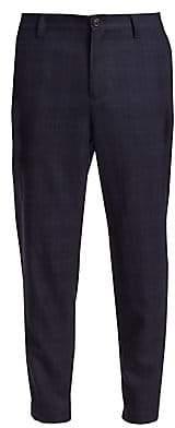 Brunello Cucinelli Men's Plaid Leisure Cargo Trousers
