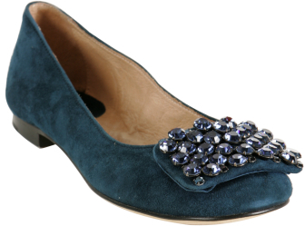 Kate Spade navy suede 'Party' rhinestone flats
