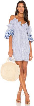 Parker Keegan Dress in Blue $278 thestylecure.com