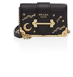 e013bd7fc7 Prada Women s Cahier Studded Saffiano  Leather Shoulder Bag