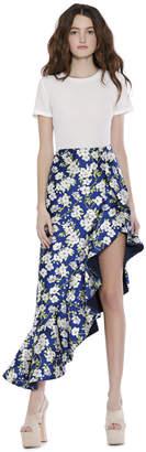 Alice + Olivia Lovetta Ruffle Mock Wrap Skirt
