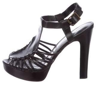 Lauren Ralph Lauren Leather Platform Sandals