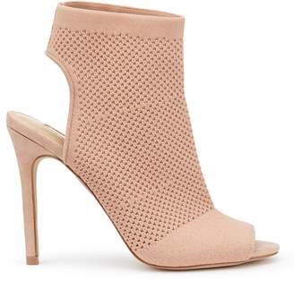Miss Selfridge Nude CANDY Knitted Peep Toe Heel Sandals