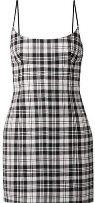 Alexander Wang Tartan Wool Mini Dress - Black