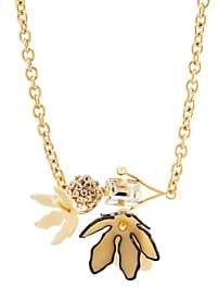 Marni Women's Floral Centerpiece Necklace - Pale Gold