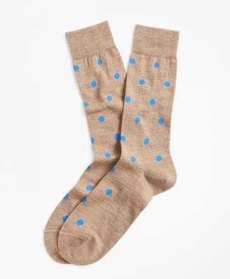 Brooks Brothers Dot Crew Socks