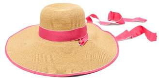 Filù Hats Filu Hats - Arenal Wide Brimmed Straw Hat - Womens - Pink