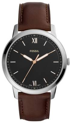 Fossil Men's The Minimalist Medium Round Stainless Steel Strap Watch, 44mm