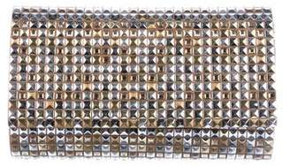 Judith Leiber Studded Suede Evening Bag