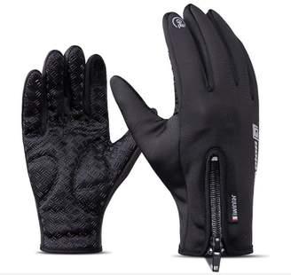Huanou Screen Touch Gloves Men and Women Winter Waterproof Windproof Fleece Gloves (L)