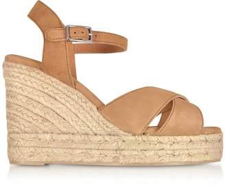 Castaner Blaudell Brown Suede Wedge Sandals