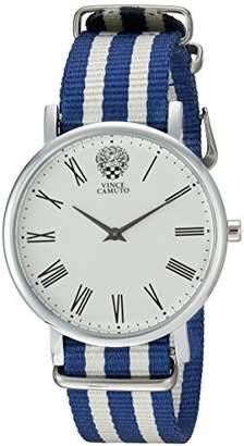Vince Camuto Women's VC/5303SVBL Blue and White Nylon Strap Watch