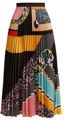 Mary Katrantzou Bauhaus Print Pleated Crepe Skirt - Womens - Multi
