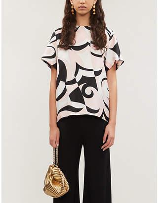 Emilio Pucci Fortuna print silk T-shirt