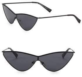 Le Specs Luxe Adam Selman x Luxe The Fugitive Black Sunglasses