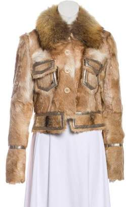 Dana Stein Shearling & Fur-Trimmed Jacket