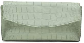 Banana Republic Croc-Effect Small Foldover Clutch