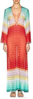 Missoni Mare Women's Lace-Up Striped Geometric-Knit Long Caftan