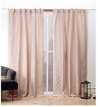 Nicole Miller Trellis Matelasse Hidden Tab Top Curtain Panel Pair