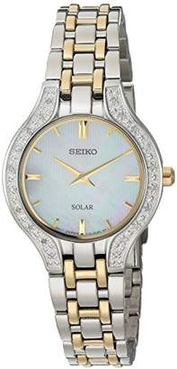 Seiko Women's Quartz Stainless Steel Casual Watch, Color:Two Tone (Model: SUP335) $450 thestylecure.com