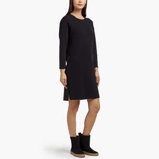 James Perse POLAR FLEECE SIDE ZIP DRESS