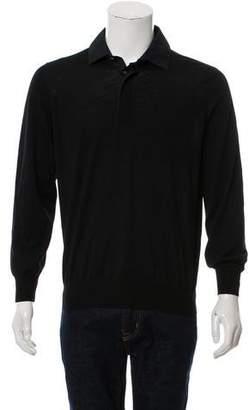 Brunello Cucinelli Cashmere-Blend Henley Sweater