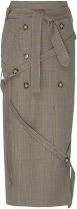 Rokh Wrap Wool Skirt Size: 34