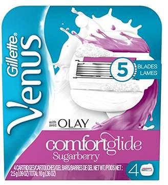 Olay Venus ComfortGlide with Sugarberry Women's Razor Blades - 4 Refills